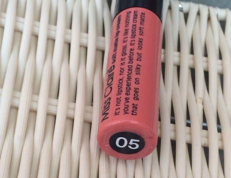 Miss Claire Soft Matte Lip Cream 05 Review 4