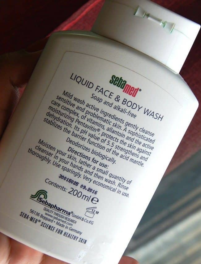 Sebamed Liquid Face and Body Wash Review 3