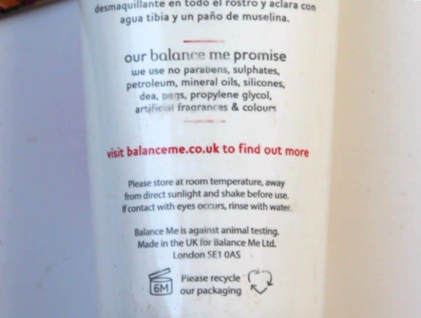 balance me cleanse and smooth face balm review 2