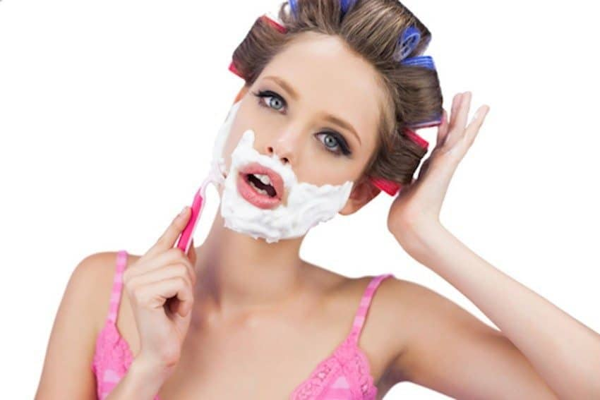 shaving your face 2