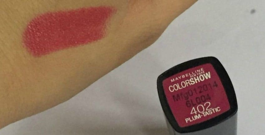 Maybelline Color Show Lipsticks Red Rush, Plum Tastic And Violet Vibe Review And Swatches 2
