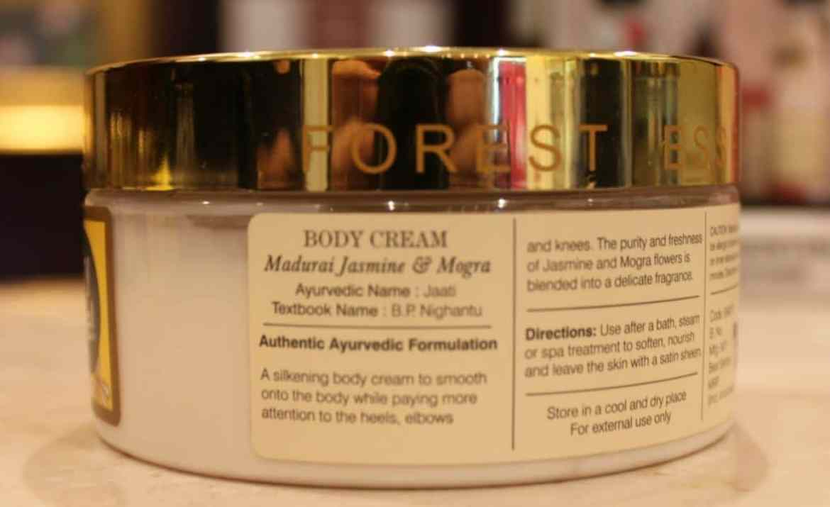 Forest Essentials Velvet Silk Body Cream Madurai Jasmine & Mogra Review 1