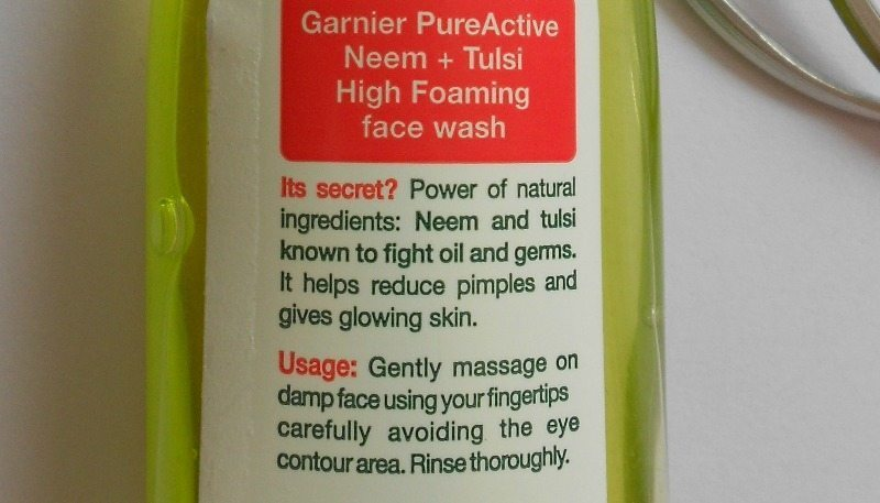 Garnier Skin Naturals Pure Active High Foaming Face Wash Review 2
