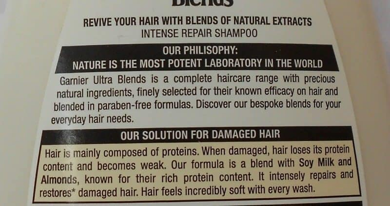 Garnier Ultra Blends Soy Milk and Almonds Intense Repair Shampoo and Conditioner Review 5