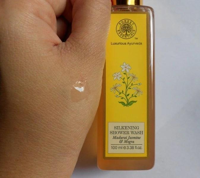 Forest Essential Silkening Shower Wash Madurai Jasmine and Mogra Review 3