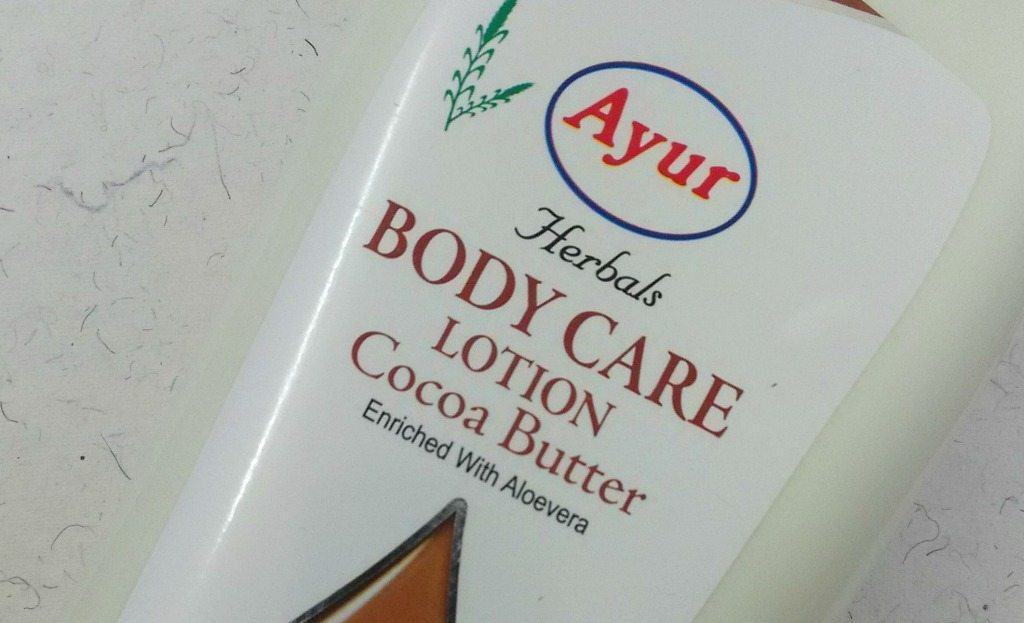 Ayur Herbals Body Care Lotion with Cocoa Butter , ayurveda cocoa butter , ayur body lotion review 1