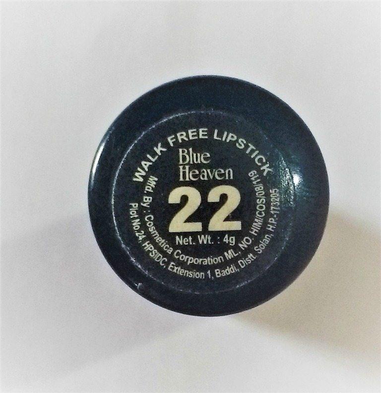 Blue Heaven Walk Free Lipstick LP 22 Review 2