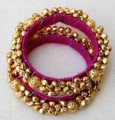 Thread bangles with small bells