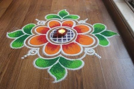 What are Simple Rangoli Designs for Home ? 1 2
