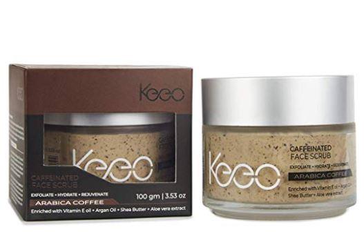 Keeo Caffeinated Face Scrub