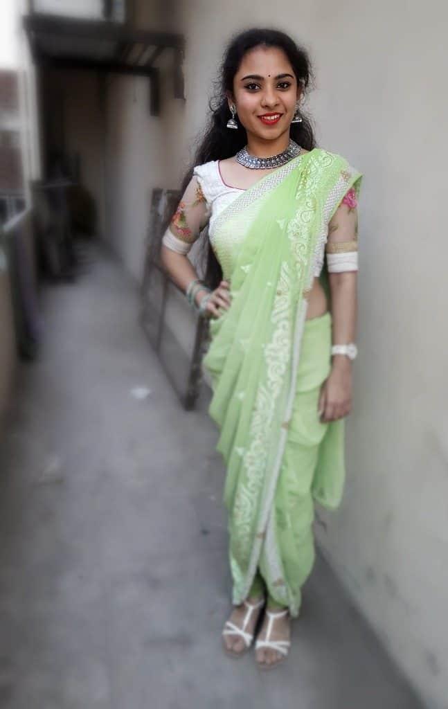 Dhoti Sari Fashion Look of The Day + How to Drape ! 3