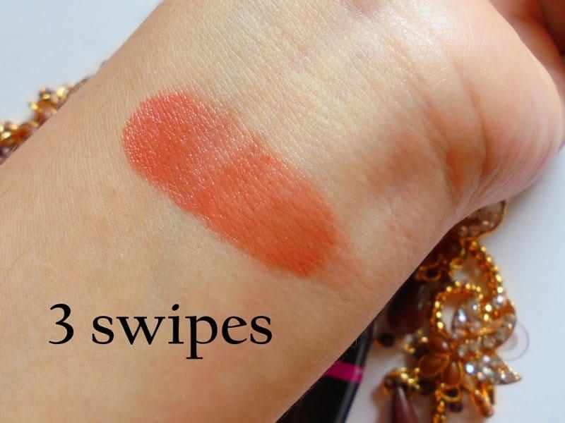 Elle 18 Color Pops 30 Cinnamon Bun Lipstick Review 4