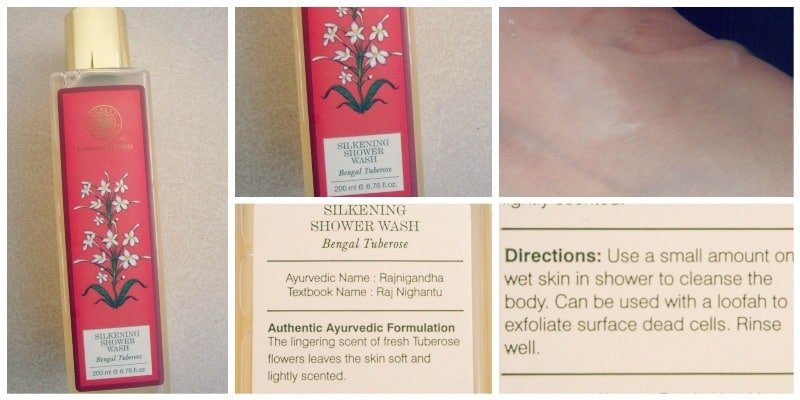 Forest Essentials Bengal Tuberose Silkening Shower Wash