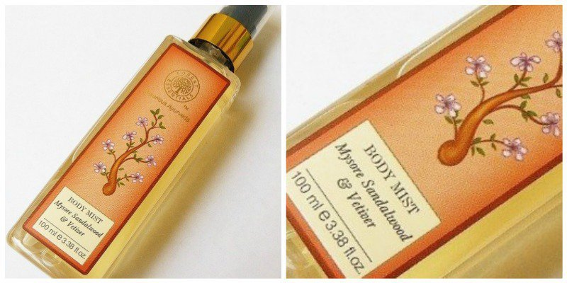 Forest Essentials Mysore Sandalwood and Vetiver Mist