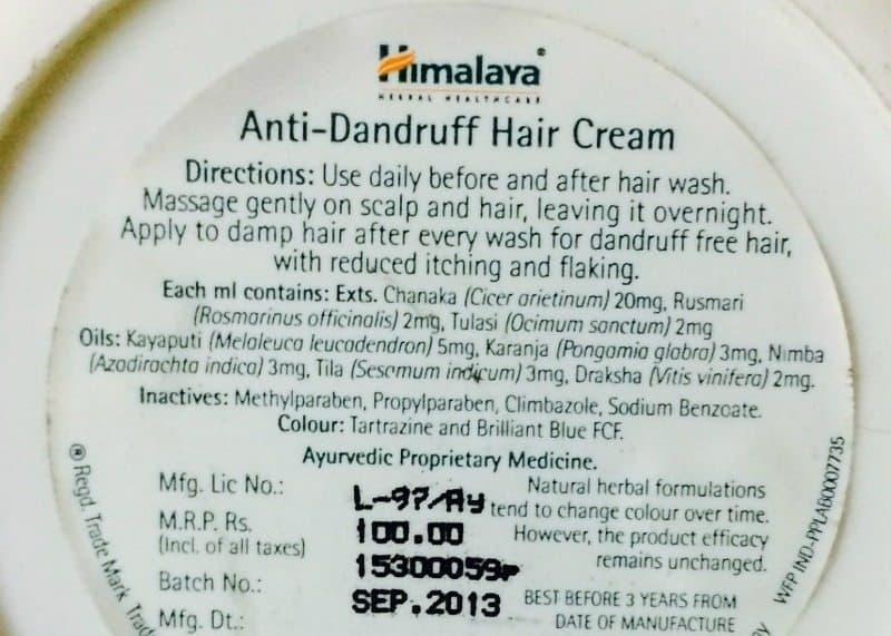 Himalaya Herbals Anti-Dandruff Hair Cream  6
