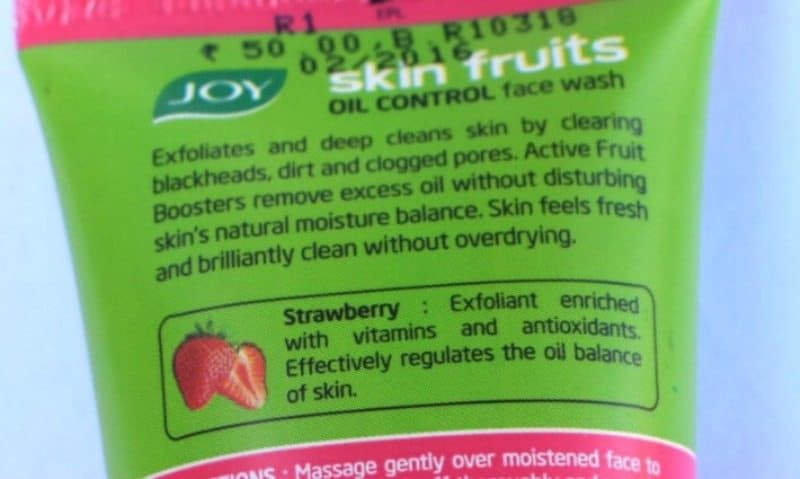 Joy Skin Fruits Oil Control Face Wash Review 2
