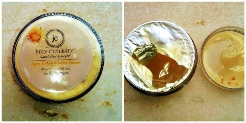 Juicy Chemistry Argan and Mango Butter Masque (Pre Shampoo Hair Spa) 4