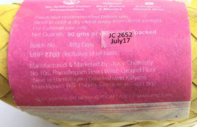 Juicy Chemistry Onion Hibiscus Chamomile Tea Shampoo Bar 1