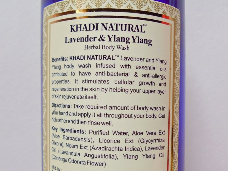 Khadi Natural Lavender & Ylang Ylang Herbal Body Wash Review 2