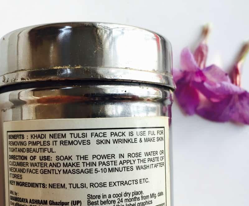 Khadi Natural Neem Tulsi Herbal Face Pack 1