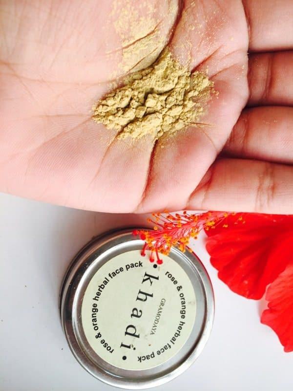 Khadi Natural Rose & Orange Herbal Face Pack 5