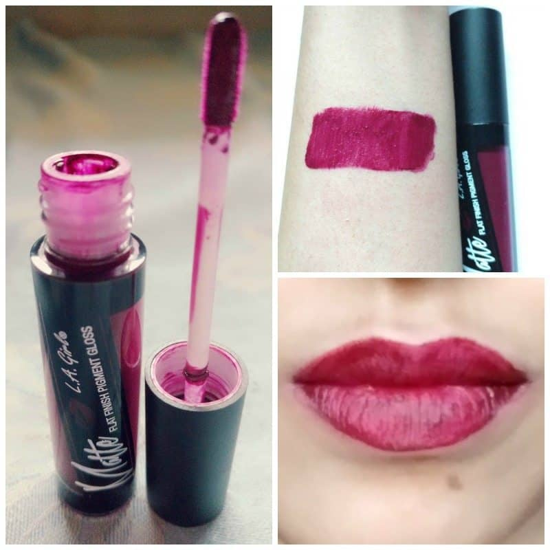L.A. Girl Backstage Matte Flat Finish Pigment Gloss Review 1