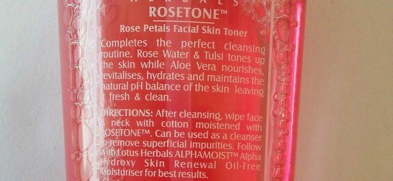 Lotus Herbals Rosetone Facial Skin Toner 2