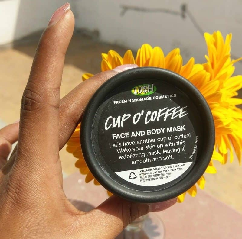 Lush Cup O' Coffee Face and Body Mask Review 1