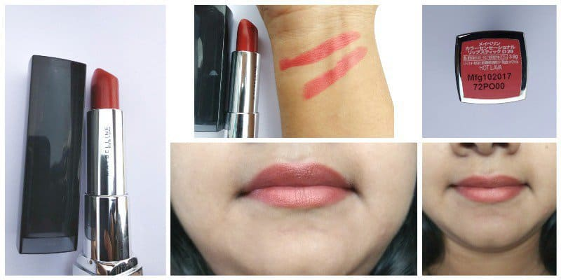 Maybelline Hot Lava Color Sensational Matte Metallic Lipstick