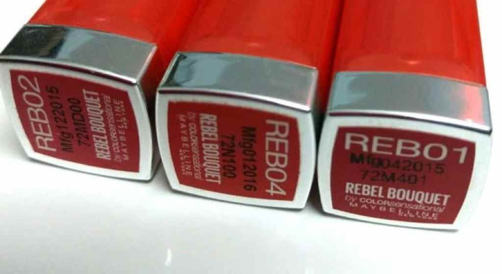 Maybelline Rebel Bouquet Lipsticks REB01, REB02 and REB04  Review and Swatches