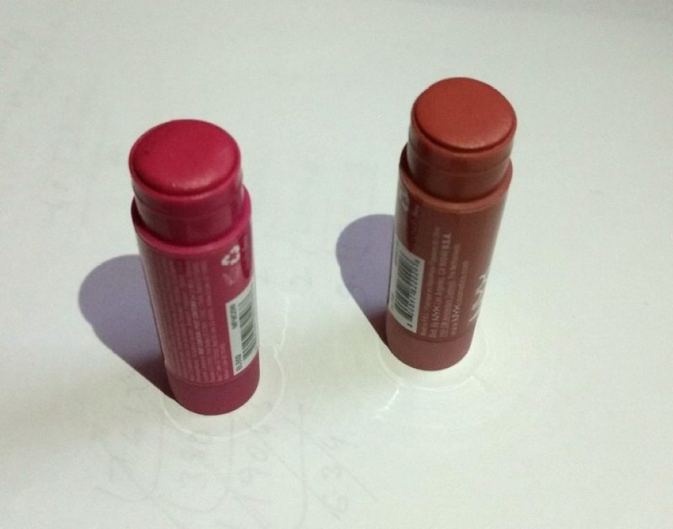 NYX Butter Lip Balm Lady Finger and Brownie Review 2