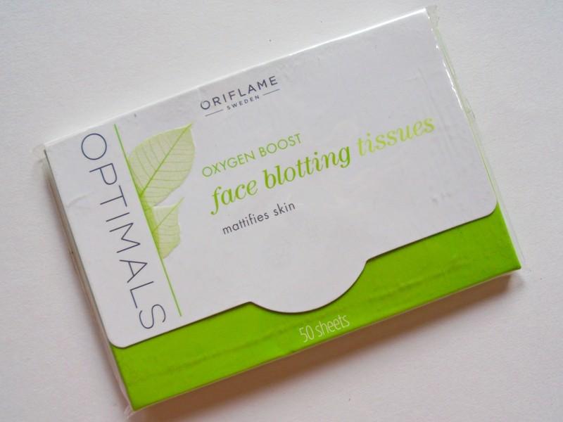 Oriflame Optimals Oxygen Boost Face Blotting Tissues