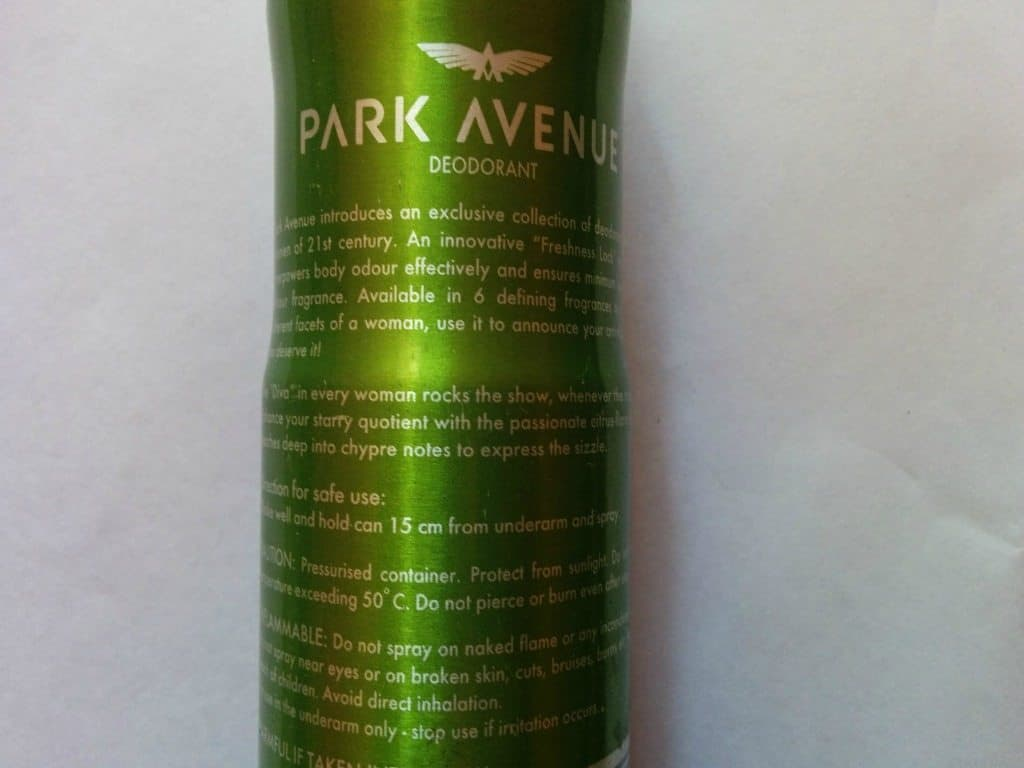 Park Avenue Diva Women Deo Review 3