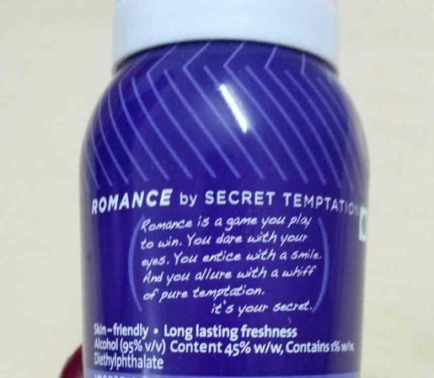 Secret Temptation Romance Deodorant Review 2