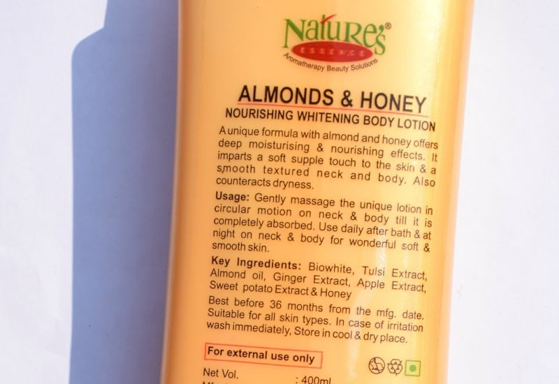 Whitening Body Lotion : Nature's Essence Almond and Honey 1