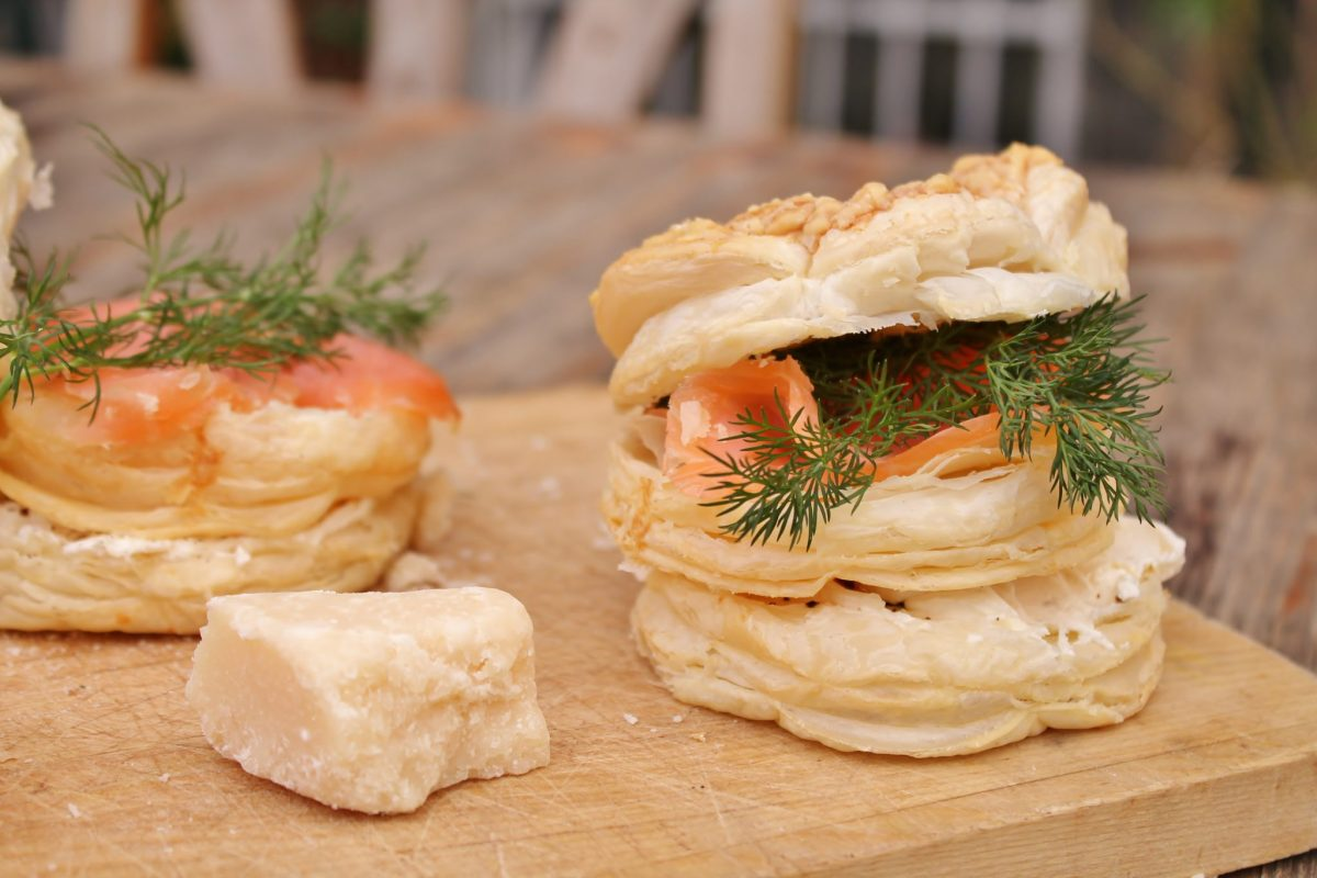 Smoked Salmon & Parmesan Brunch Tarts