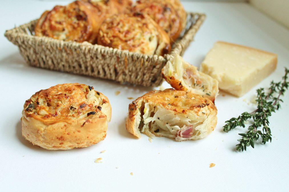 Savoury Parmigiano-Reggiano and Pancetta Pastry Scrolls