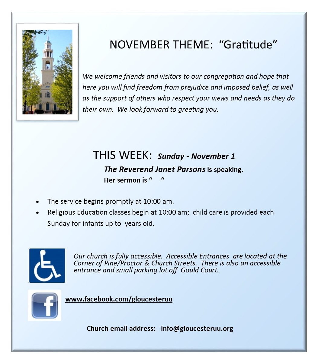 Sunday slide for home page gloucester unitarian universalist church sunday slide for home page kristyandbryce Gallery