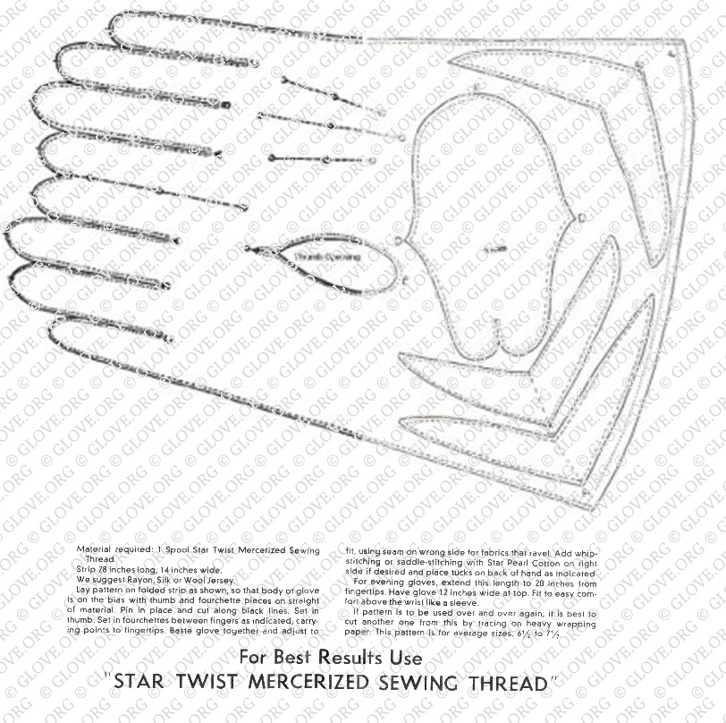Leather Fingerless Gloves Sewing Pattern
