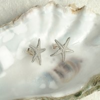 Starfish Stud Earrings | UK Handmade Seaside Jewellery