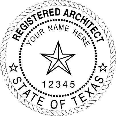 TEXAS ARCHITECTURAL SEAL SELF INKING STAMP