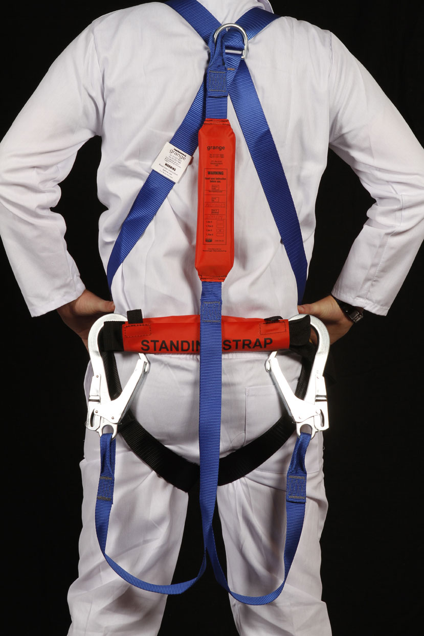 Full Body Harness With Double Lanyard And Shock Absorber