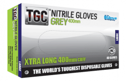 Long Sleeve Disposable Gloves Nitrile Grey