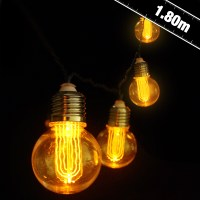 Battery Operated Nostalgia Bulb String Lights - Party ...