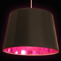 Black & Pink Lamp Shade