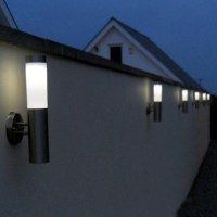Canterbury Stainless Steel Solar Wall Light