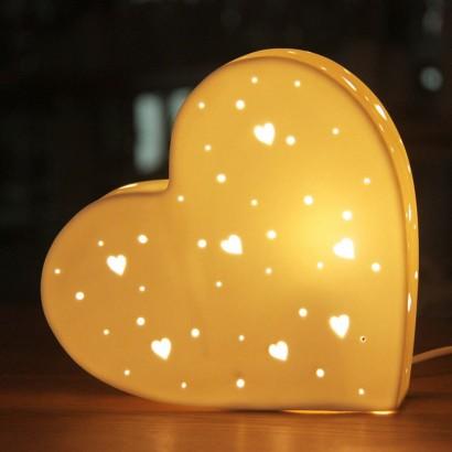 Ceramic Heart Table Lamp