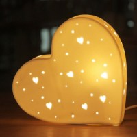 Ceramic Heart Table Lamp