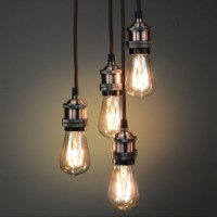 Vintage Lighting Copper Quad Pendant