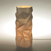 Porcelain Cylinder Table Lamp